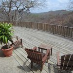 Back deck of Villa #2, mountain views