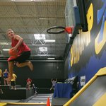 Slamball on trampolines