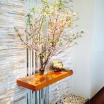 cherry blossoms in dining room