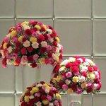 Flower arrangement at the LOBBY