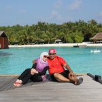 Our lovely portrait to remind us of our 30th anniversary at Maldives
