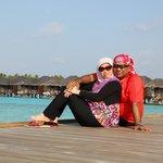 enjoying the scenery ofthe resort