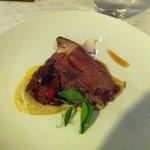 roast lamb and smoked eggplant
