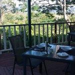 Breakfast on the Homestead verandah