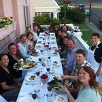 Balcony dinner, warm spring night, wonderful food & great friends!!