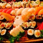 Boat for Four. It looks like fresh caught sushi ��