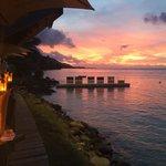 Sunset at Moorea Beach Cafe