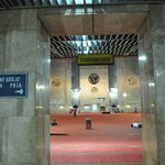 Inside of the praying hall Masjid-e-Istiqlal