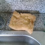 Washing Sponge in the kitchen