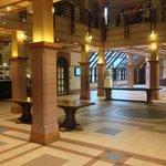 The main lobby with Xmas tree!