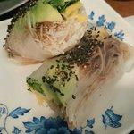 Freshly made rice rolls