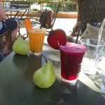 Delicious fresh juices - choose your colour and the ingredients are seasonal