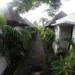 Walkway to the villa.