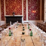 The Admiral room, set for a private dining event