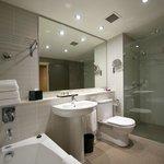 Spacious, pleasant bathroom