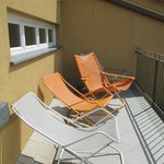 Relaxer chairs on balcony