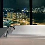 Enjoy a glass of bubbly in your bath with a view!