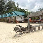 View of our bungalow from beach
