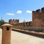Kasbah walls around riad