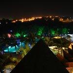 Вид с балкона (ночью)