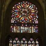 Stained glass windows in Amiens Cathedral