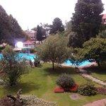 piscinas e jardim