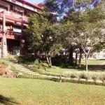 Visão do hotel a partir do jardim