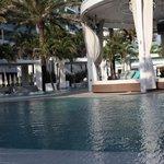pool and cabanna