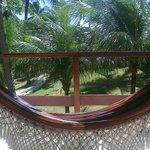 La hamaca de nuestra habitación. Para descansar antes o después de la playa o la piscina.