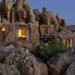 Cave Suites built against the sandstone rock formations