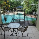 Open the gate and get into the Pool from your veranda.