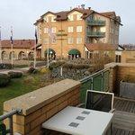 Hotel vanaf balkon