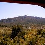 vue depuis la terrasse du chalet corbières