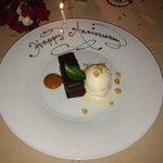 Our lovely dessert.