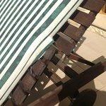 poolside furniture falling to bits