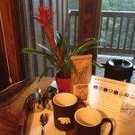 Café antes del desayuno y previsión meteorológica