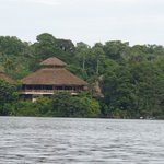 Lodge from the lagoon