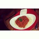 Spaghetti bolognese was delicious