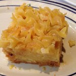 Kugel (sweetened with what tastes like brown sugar)