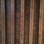 soffitto in legno della camera, tipico veneziano . Molto alto.