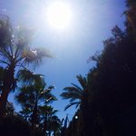 Lying on sun lounger at poolside bliss