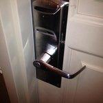 Spit on door handle - DISGUSTING.