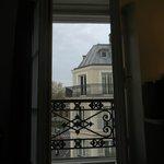 Open window...noisy but beautiful views!