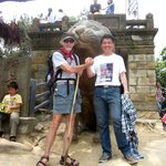 Hiking with my colleague, WangYang, from Southwest University