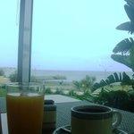Desayuno con vista al mar ...