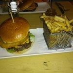 burger & surprisingly large chips