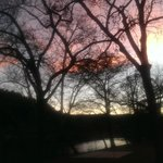sunset on the Guadalupe River at Rio Raft & Resort