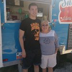 Grandson and Grandmother at The Sno Queen