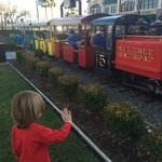 The train at the Vacaville restaurant...my grandson Loves IT