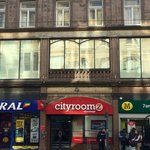 Front of Cityroomz Edinburgh along Shandwick Place